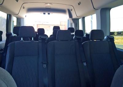 12 Passenger Van interior