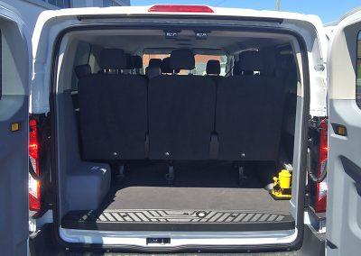 Transit 10 Passenger Van rear storage